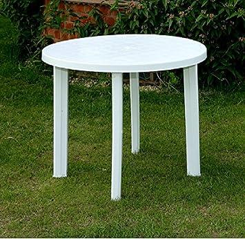 New Progarden Round White Plastic Garden Patio Table Parasol Holder