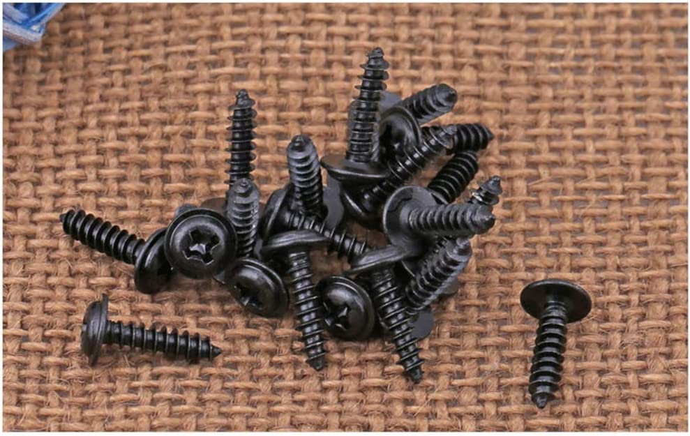 Autorroscante Phillips Tornillos Chapado en Zinc Negro Cabeza Avellanada Tornillos 500piezas//100piezas YINSONG M2.6 M3 M3.5 M4 Tornillo Negro M2.6 * 4mm 500 piezas