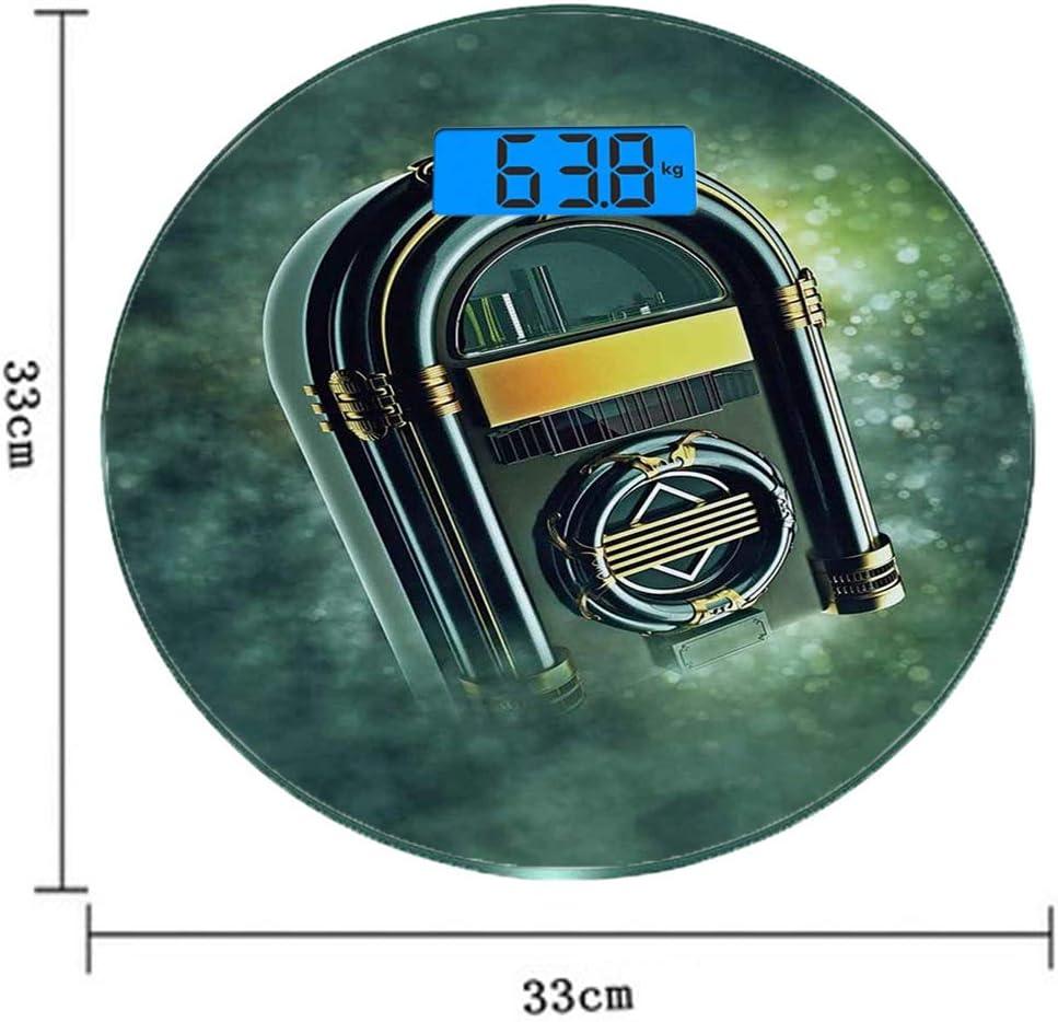 Escala digital de peso corporal de precisión Ronda Tocadiscos ...