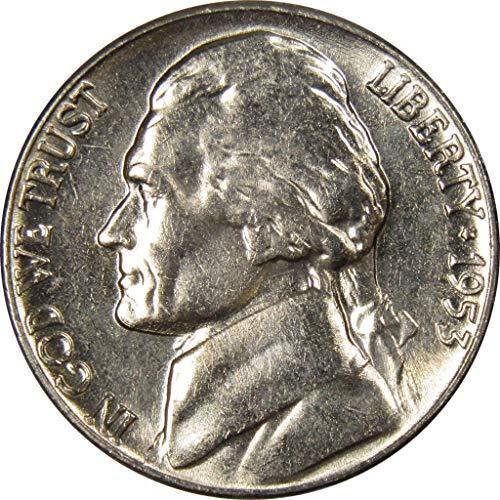 1953 D 5c Jefferson Nickel US Coin Uncirculated Mint - 1953 Mint