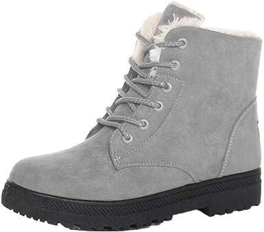 Sioneit Bottes De Neige Pour Femmes Hiver Coton Chaussures