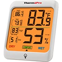 ThermoPro TP53 Hygrometer Humidity Gauge Indicator Digital Indoor Thermometer Room Temperature and Humidity Monitor with…