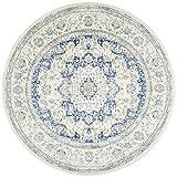 Nuloom 7'10 x 7'10 Verona Round Rug in Blue For Sale