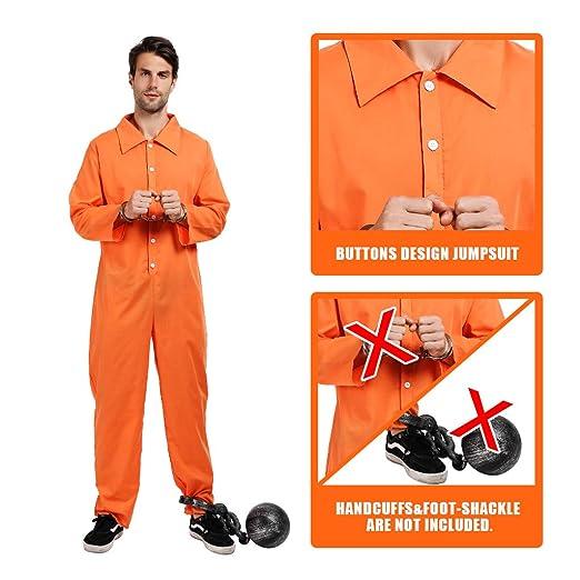 EraSpooky Hombres Prisionero Convicto Disfraz Ladrón ...