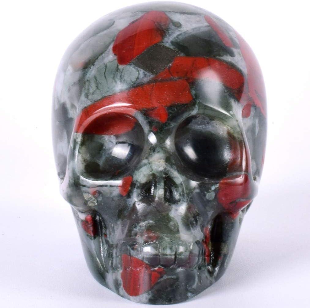 JDSHSO 血の石 人間の頭蓋骨像 置物 スカル彫刻 ホラー スカル スケルトン モデル ホームインテリア ハンドメイド OneSize 6-a09BBC5d2-8Da3-c62F2-ONesi