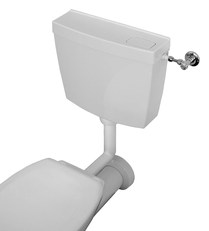 29HB2718 Levins Calmwaters Schmaler Aufputz-Sp/ülkasten mit 6-9 l Sp/ülmenge /& Start-Stopp-Taste f/ür die Toiletten