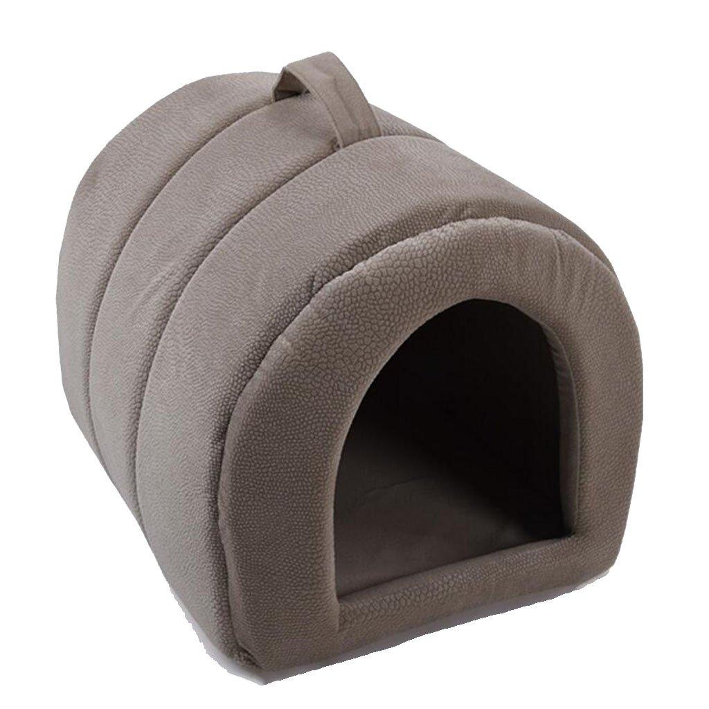 Coffee color MM Beds Pet Nest Dog Nest Cat Nest Pet Supplies Dog House Cat Sleeping Bag (color   Coffee color)