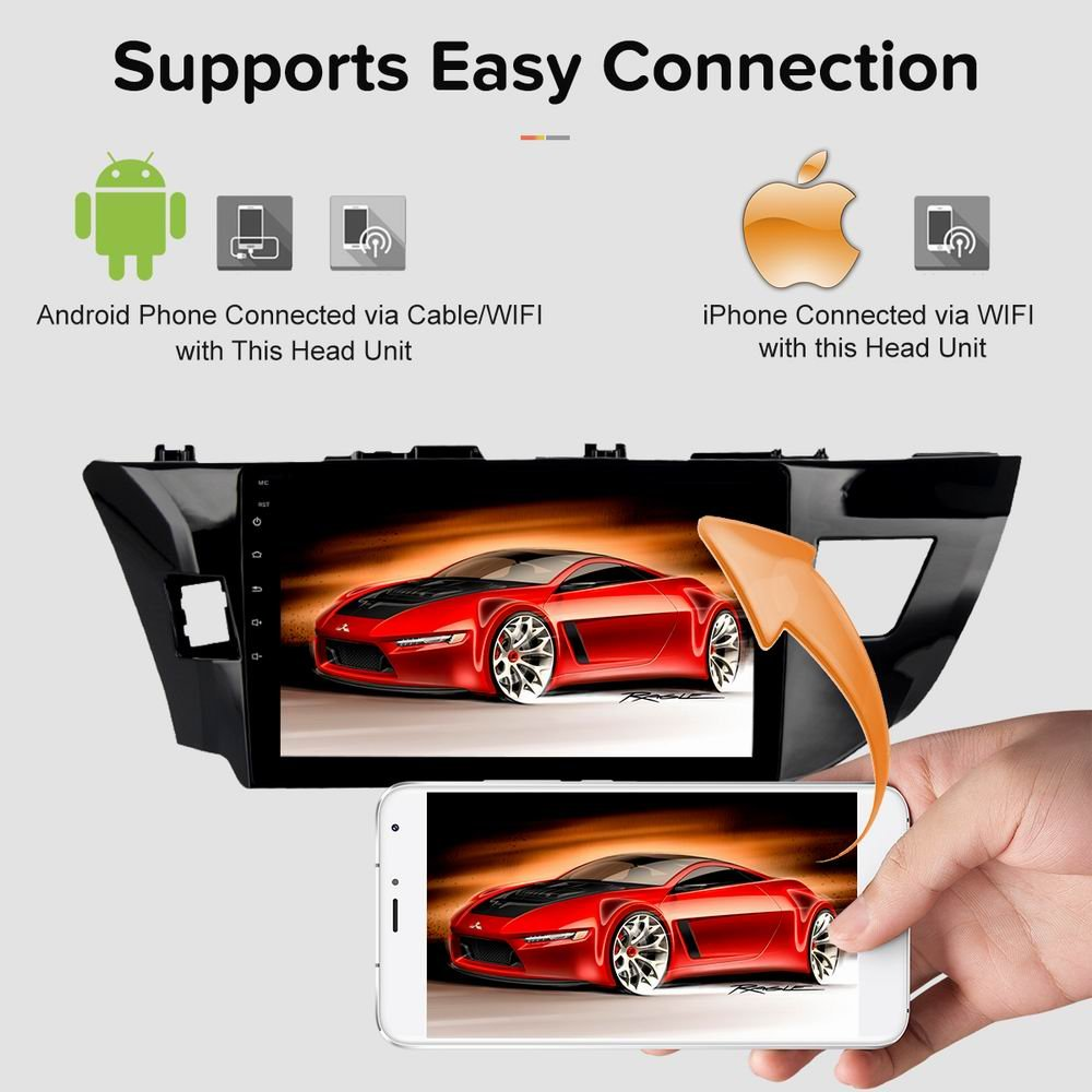 Sygav Android 80 Oreo Car Stereo 4g Ram 8 Core For 2014 Rockford Fosgate Amplifier Wiring Diagrams Http Wwwmp3carcom 2016 Toyota Corolla Radio 102 Inch Touch Screen Gps Sat Navigation Head Unit