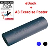 ResultSport Foam Roller with A3 Poster - Ideal for Yoga, Pilates, Myofascial Release, Muscle Pain relief, IT Band, Trigger Point Massage, Stiffness Relief
