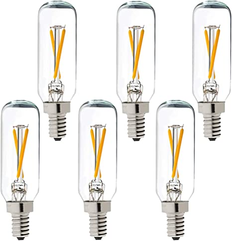 T6 Bulb 25W Cand Base Clear 25Pk