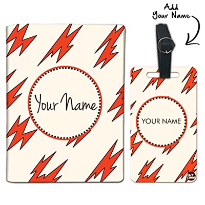 delicate Nutcase Personalized Passport Cover & Luggage Tag Polyfabric-Lightning
