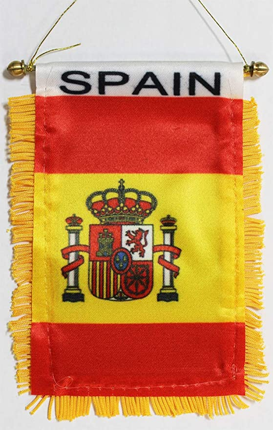 La bandera de España FindingKing 7, 62 cm x 12, 7 cm Mini: Amazon ...