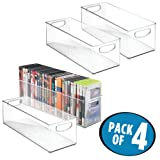 Amazon Price History for:mDesign Household Storage Bin for DVDs, PS4 and Xbox Video Games - Pack of 4, Large, Clear
