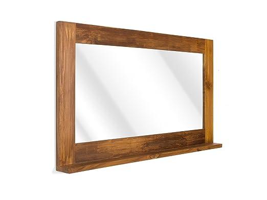Massivum Masja Spiegel Bad Teak Holz Braun 12 X 130 X 70 Cm