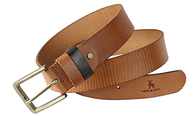 Personalised Leather Belt Choice of Width Buckle /& Colour Hand Made 100/% Leather