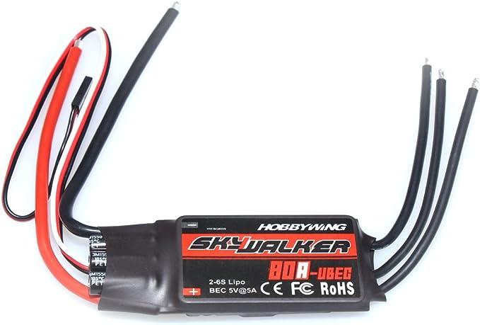 40A//60A//80A Hobbywing RC Modulation Skywalker Brushless ESC Speed Controller US