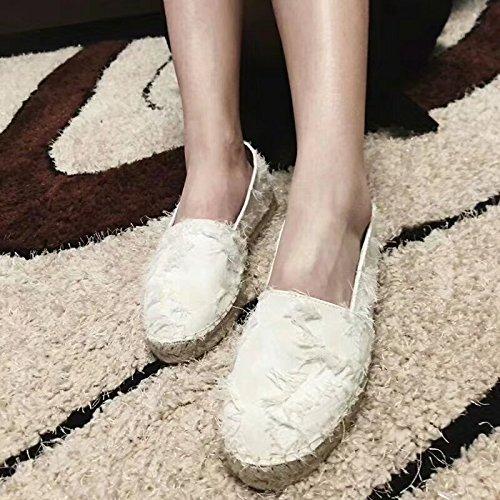 XINGMU Chaussures De Soie, La Paille De Chanvre Woven Shoes, Chaussures De P