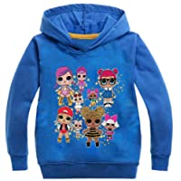 Socluer Felpa con Cappuccio L.O.L Surprise 3D Magliette per Ragazze Dolls Cartoon Game Girl's