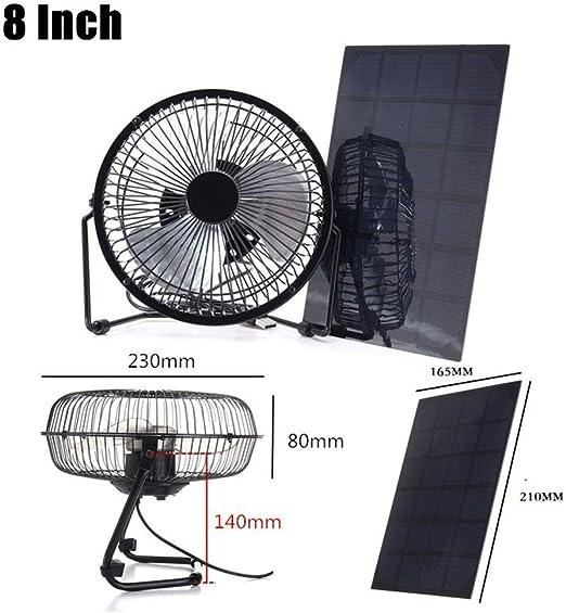 8 Pulgadas de enfriamiento Ventilador de ventilación Panel de ...