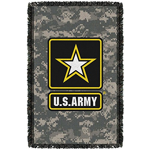 Army - Patch Woven Throw Throw Blanket 35 x 57in