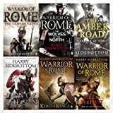 img - for Warrior of Rome Series Harry Sidebottom Collection 6 Books Set With Gift Journal (Lion of the Sun, King of Kings, Fire in the East, The Caspian Gates, The Wolves of the North, The Amber Road) book / textbook / text book