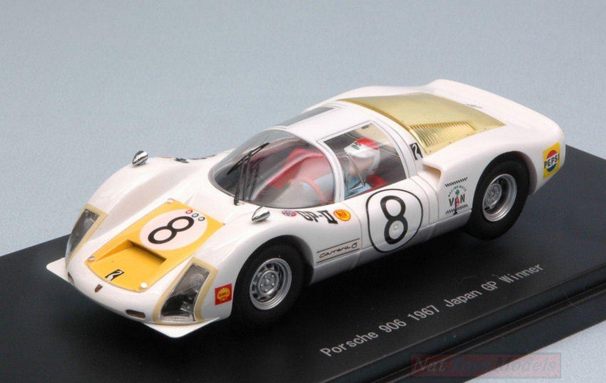 Ebbro EB45344 Porsche 906 N.8 Winner Japan GP 1967 T.IKUZAWA 1:43 Die Cast Model Compatible con