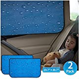 Car Sun Shade Car Window Shade Double Thickness Rear Side Window Auto Windshield Sunshades Universal Fit for rv truck UV protection 2 Pack by aokway