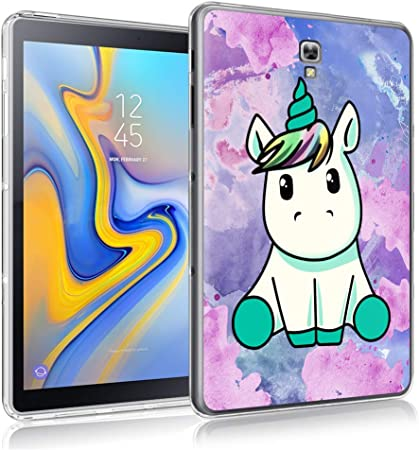ZhuoFan Coque Samsung Galaxy Tab A 10.5 Housse de Protection Étui Fin en Silicone Transparente avec Motif Antichoc Flexible TPU Cover Case pour ...