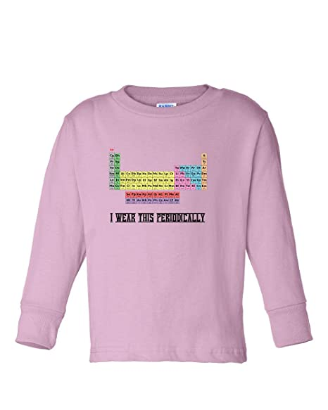 Amazon periodic table elements wear periodically kids long periodic table elements wear periodically kids long sleeve cotton t shirt tee soft pink 2t urtaz Image collections