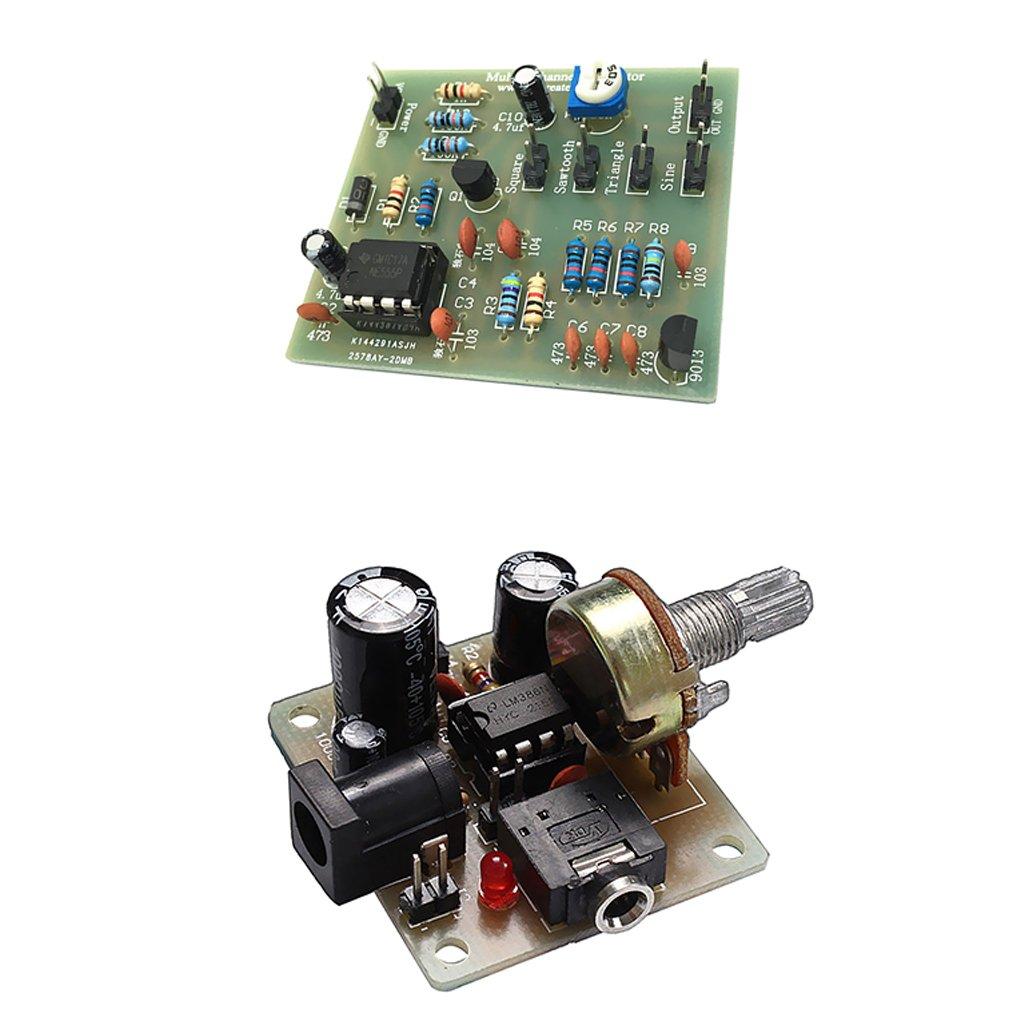 MagiDeal Carte ICSK025A D'amplificateur du Module LM386 De Gé né rateur De Forme d'onde De NE555 NE555
