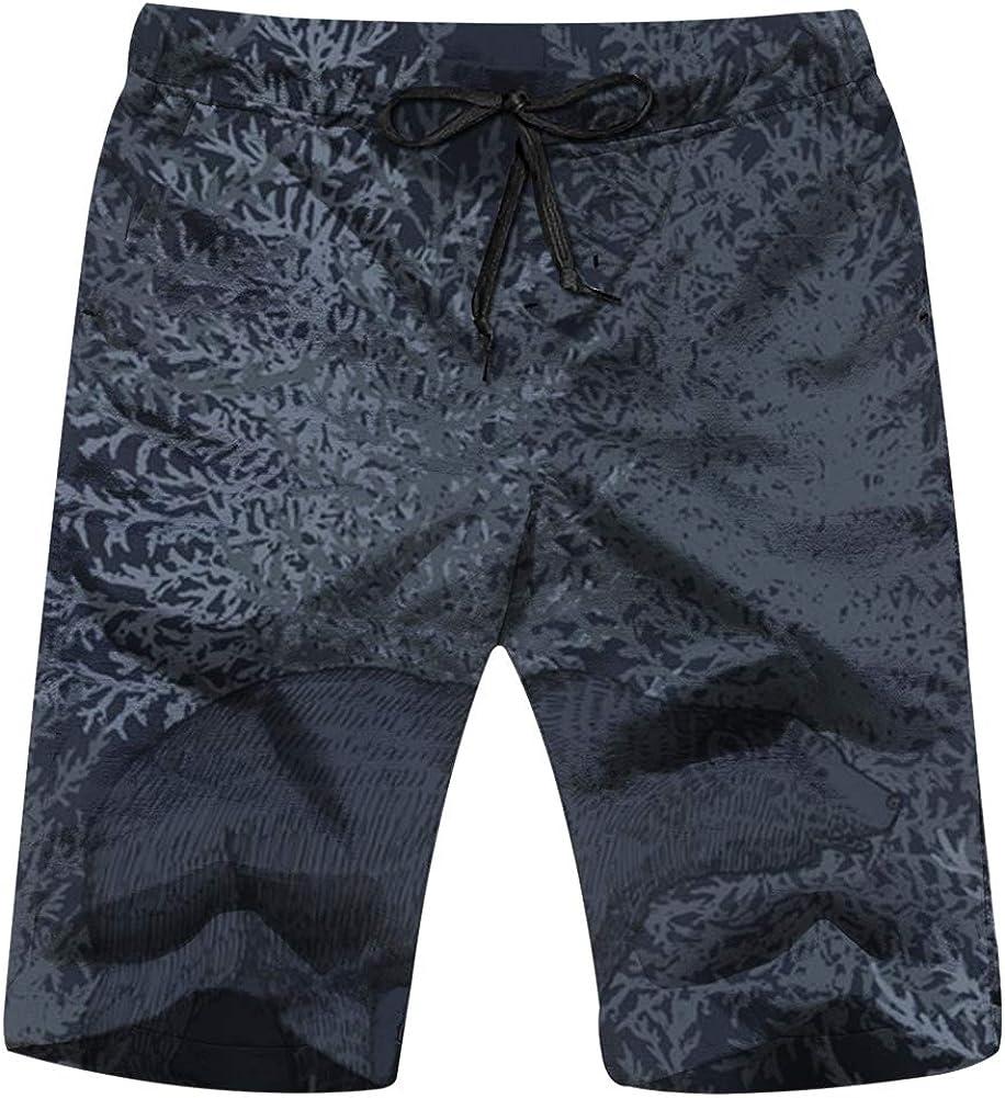 Zul Leopard Animal Print Mens Swim Trunks Summer Beachwear Board Shorts Quick Dry Print
