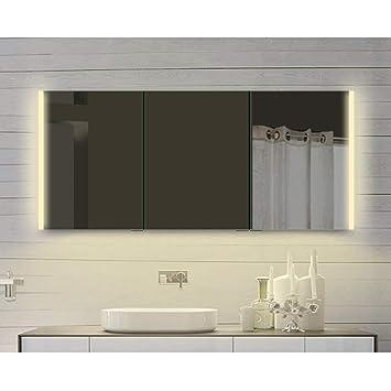 Lux Aqua Alu Badezimmer Spiegelschrank mit Beleuchtung in warm ...