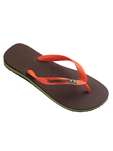 7cd441e8ae3df4 Havaianas - Coffee Orange Brasil Logo Flip Flops - Mens - Size  UK 11 12   Amazon.co.uk  Shoes   Bags