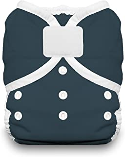 product image for Thirsties Duo Wrap Cloth Diaper Cover, Hook and Loop Closure, Midnight Blue Size Two (18-40 lbs)