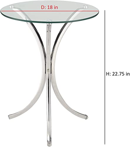 Coaster 902869-CO Accent Table, Chrome Finish