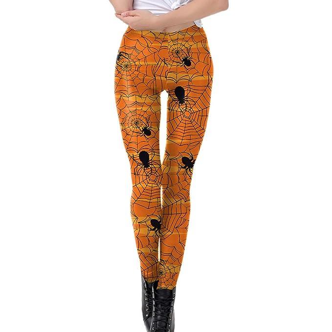 Lunule Pantalones de Halloween Mujer elásticas de Cintura ...