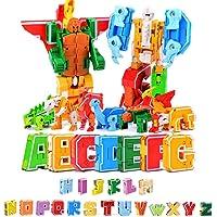 Eayse 26 Piezas Bots Juguetes Máquina de deformación de Letra Inglesa Juguetes Montaje de Juguetes Niños Robot Juguete