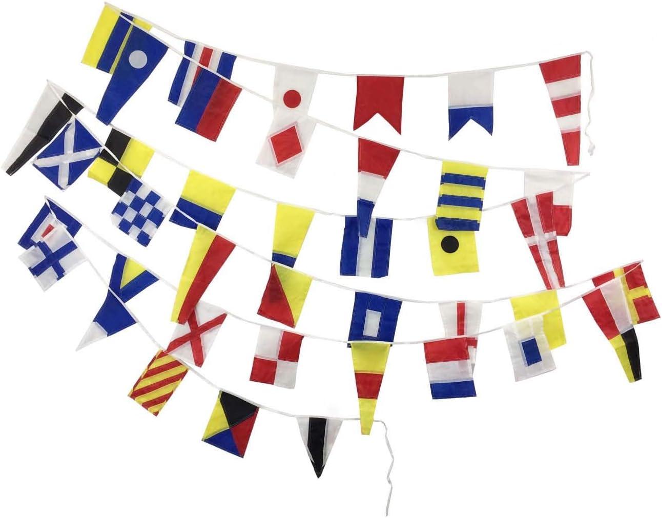 "K Nautical // Boat 100/% Cotton – Marine Code Naval Signal Flag 8/"" X 13/"""