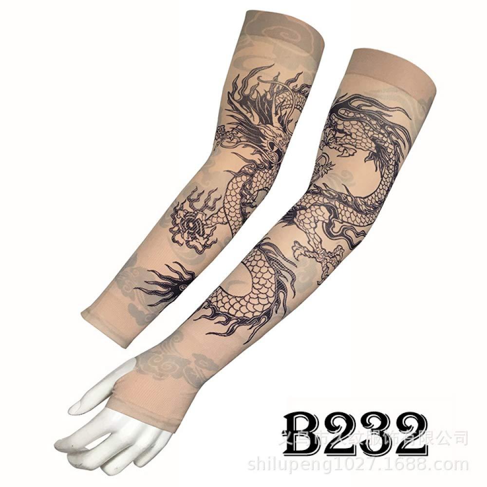tzxdbh Manga de Tatuaje de Hielo Protector Solar de Verano Sombra ...