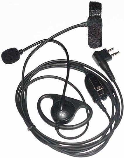 HYS 2 Pin G Shape in-Ear Earpiece Walkie Talkies Headset with Mic PTT for Motorola Radio CP200 PR400 CLS1110 CLS1410 GP300 GP2000 P1225 CP040 PRO1150 SP10 2 Way Radio
