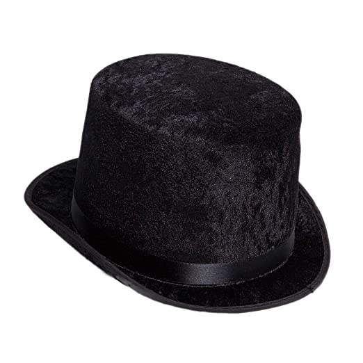 bd7af3fa46e Amazon.com  Century Novelty Deluxe Black Top Hat  Clothing