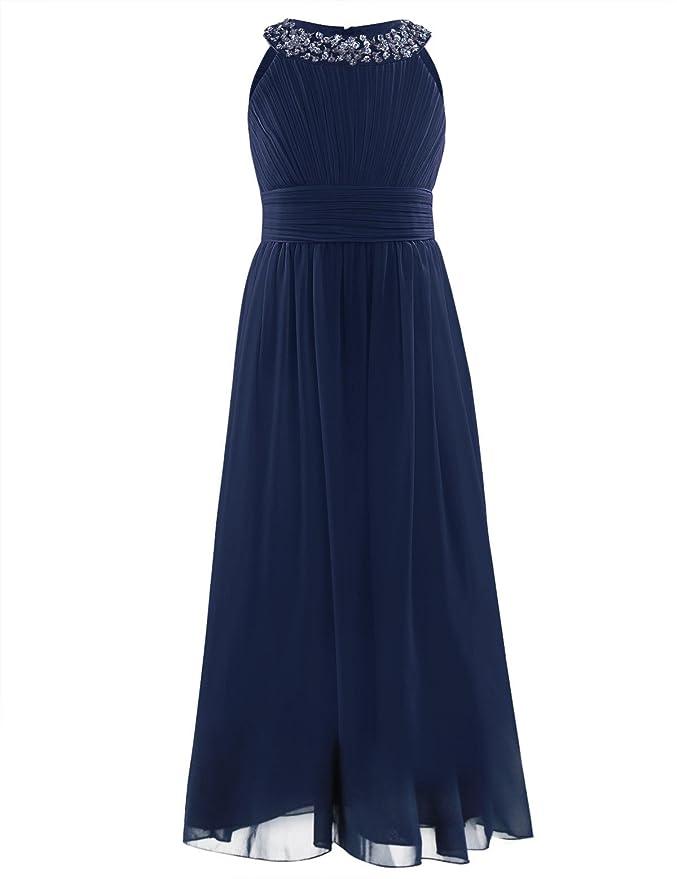 YiZYiF Mädchen Prinzessin Kleid Hochzeits Festzug Kleid Blumenmädchenkleid Partykleid Festlich Kleid Gr. 104 116 128 140 152
