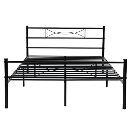 Amazon.com: Metal Bed Frame Full Size, Yanni 10 Legs Mattress ...