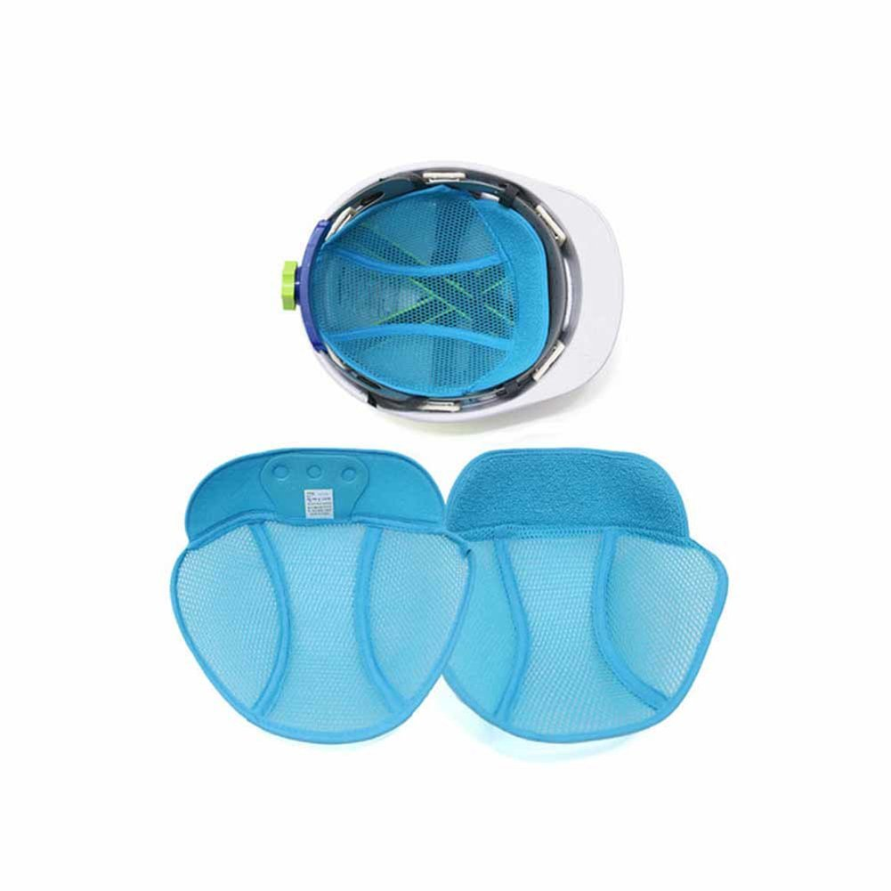 2-PCK, No Sweat Hard hat mesh Liner, Sweat Band, Sweat Absorber and Cool Ventilation for Safety Helmet, Blue