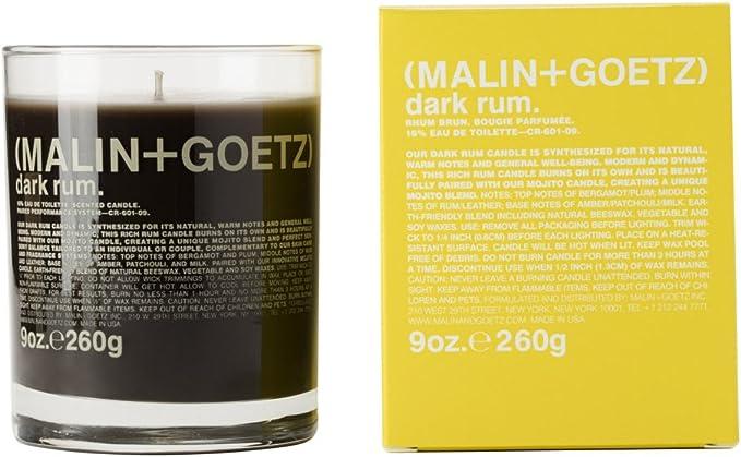 Malin & Goetz - Vela de Ron Oscuro 260 g: Amazon.es: Hogar
