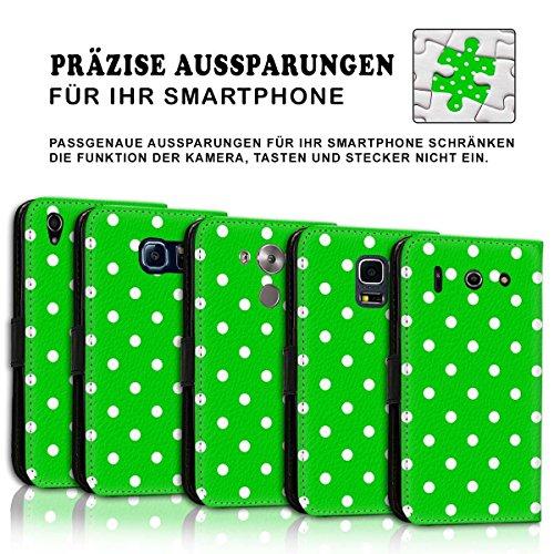 Wallet Book Style Flip Handy Tasche Case Schutz Hülle Schale Motiv Etui für Apple iPhone 4 / 4S - Design Flip MVD290