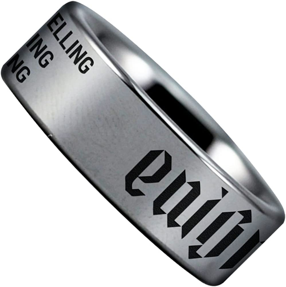Fine Jewelry Designed For Maximum Comfort Fit For Men And Women Use Perfect Gift Wedding Band and Anniversary Ring Friends of Irony Tungsten Carbide Enigma Ring 8mm