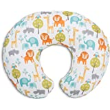 Chicco 08079902430000 Boppy Cuscino Allattamento, 0m+, Bianco (Bianco Peaceful Jungle)