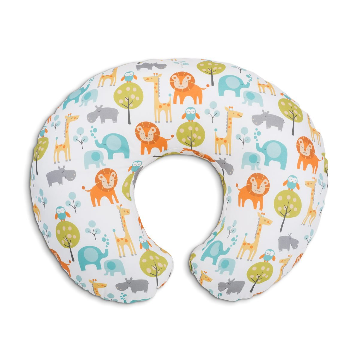Boppy- Cojí n de lactancia algodó n, ergonó mico, indeformable y optima adaptabilidad, de 0 a 12 meses, estampado Jungle ergonómico Chicco 8079902430000