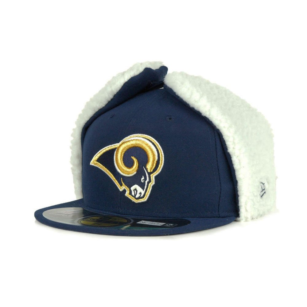 59FIFTY St. Louis Rams Officially licenced NFL New Era Dog Ear Fitted Cap 66339628b